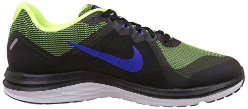Zapatillas Nike Hombres Dual Fusion X 2 Negro Azul Neon Running (12 M, Negro / Volt / Azul)