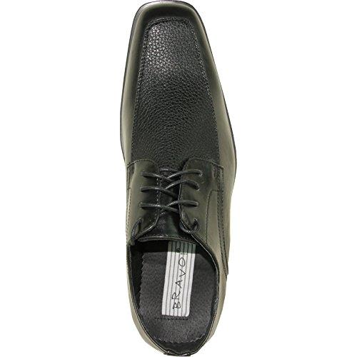BRAVO Men Dress Shoe NEW KELLY-1 Classic Oxford with Leather Lining Black Matte WSzQavK