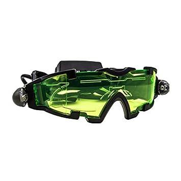 Gafas de Vidrio de visión Nocturna con LED Ajustables Caza Luz giratoria a Prueba de Viento-Verde y Negro: Amazon.es: Electrónica