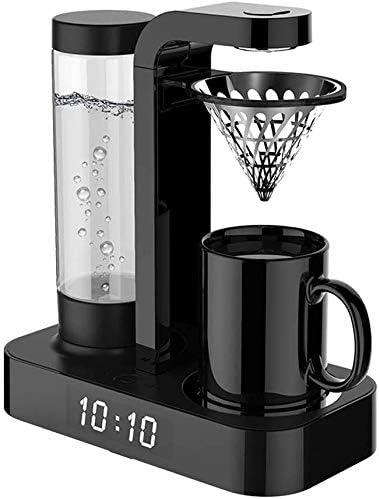 Jsmhh Café Reloj máquina Totalmente Americana Goteo automático Oficina de la Mini Cafetera Máquina de Mano del sacador de cafeteras hogar Anti-Goteo Función 600W, Negro: Amazon.es: Hogar