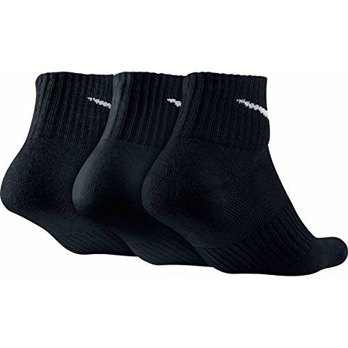 unisex Quarter 3 Blanco paquete Negro Nike Calcetines de 3PPK Cushion unidades wqEOqxBI