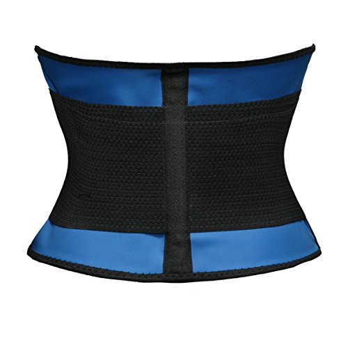 Bslingerie® Abbigliamento sportivo Power Belt doppio velcro chiusura in velcro Waist Trimmer Blau w/ Handyhalter m