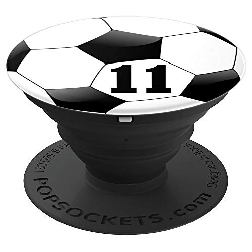 Soccer Number 11 Boys 11th Birthday Ball Player Zx - PopSockets Grip and Stand for Phones and Tablets