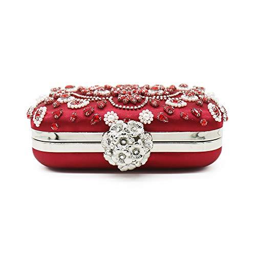 de soirée Dames Sac pour Cristal Mariage Lovely Pochette Main rabbit Sac Étincelant Rouge Strass Mini à FqgzYxRU