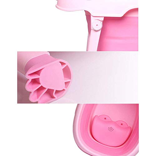 Children Safe Portable Foldable Bathtub, 29x21inch - Baby Bath Tub Kids Bath Tub Can Sit Lying Bath Tub for 6 Months to 10 Years Old Children (Pink) by Finebaby (Image #7)