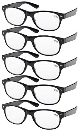 Eyekepper 5-pack Spring Hinges 80's Reading Glasses - Eyewear Prescription Ltd