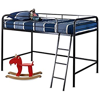 Zinus Easy Assembly Quick Lock Twin Loft Metal Bed Frame. Amazon com  DHP Junior Metal Frame Loft Bed with Storage Steps