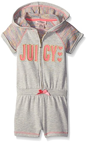 Juicy Couture Little Girls' Marled Rainbow French Terry Hooded, Gray, (Juicy Couture Hooded Terry)