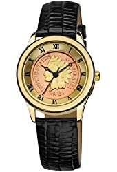 August Steiner Women's CN005G-AS Round Indian Head Penny Collectors Gold-tone Coin  Watch