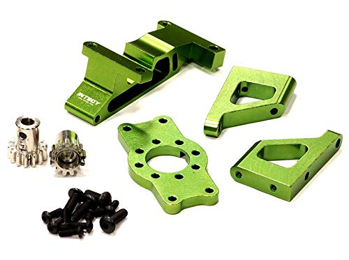 Integy RC Model Hop-ups T3285GREEN Brushless Conversion Motor Mount Set for 1/10 Revo 3.3 & Slayer (Both)