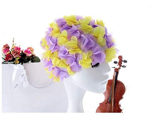 da Hat con gli donna GYPO Cuffia acquatici da per Swim indossare comodo nuoto Cappello sport da bagno fiore x0qSTqwRv