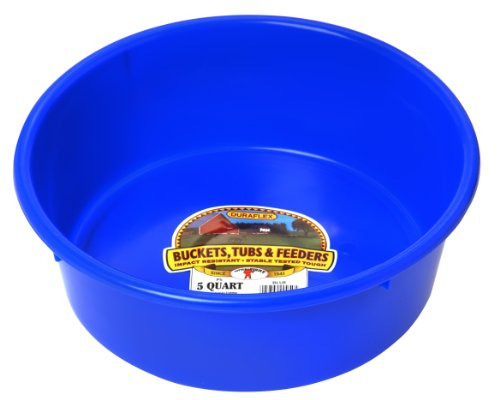 Miller Manufacturing P-5-BLUE 5-Quart Plastic Utility Pans, Blue - Hog Pan