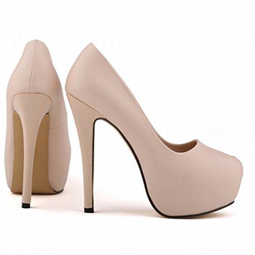 De la peu Hauts de Couleur Xianshu Matte forme Chaussures Talons Couleur Plate Noir de Candy Escarpins Femmes Bouche Unie à Profondes Yqxp0wgF
