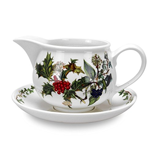Portmeirion Holly and Ivy Gravy Boat and Stand ()