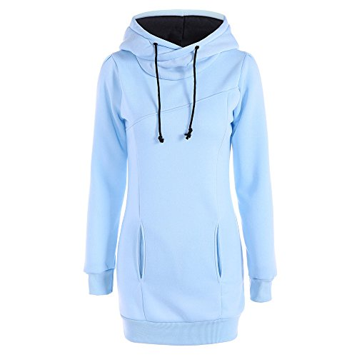 Respctful ♪☆ Women's Fashion Solid Hooded Pullover Long Sleeve Sweater Tumblr Tunic Tops Slim Casual Pullover ()