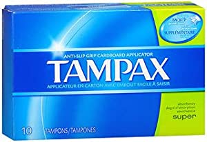 Tampax Flushable Super Tampons - 10 ct, Pack of 2