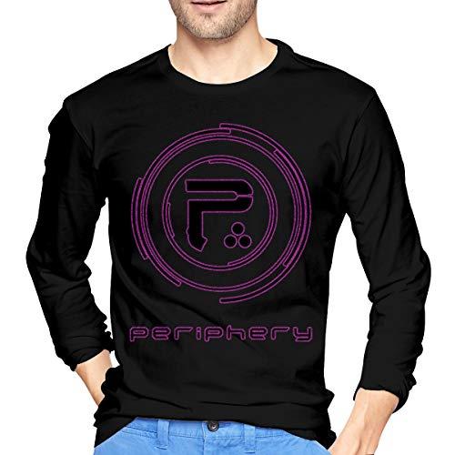 JeremiahR Men's Periphery Long Sleeve T Shirts Black -