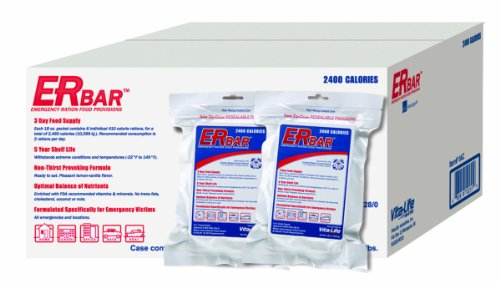 ER Emergency Ration 1AC 2400 Calorie Emergency Food Bars for Survival Kits and Disaster Preparedness (Case of 20)