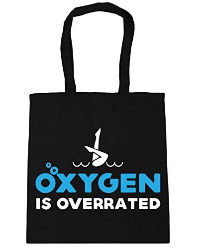 HippoWarehouse es de oxígeno overrated sincronizada bolsa de la compra bolsa de playa 42cm x38cm, 10litros negro
