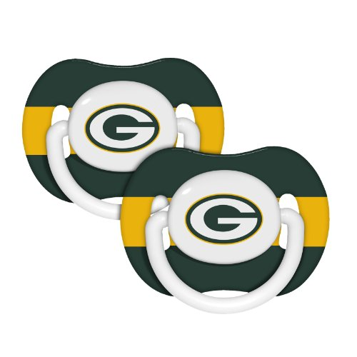 by Infant Pacifier 2-Pack - Pick Team (Green Bay Packers - Stripe) ()
