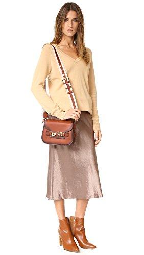 Sac à Bandoulière Rebecca Minkoff Florence Saddle en peau couleur marron terre cuite
