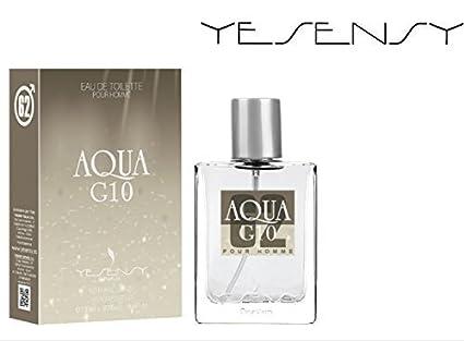 AQUA DI GIORGIO G10 (Aroma plus determina) y transpirable, diseño de frasco de