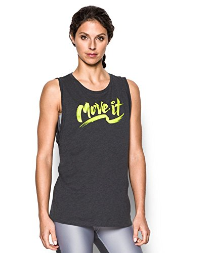 Under Armour Women's Move It Muscle Tank, Carbon Heather (090), Small