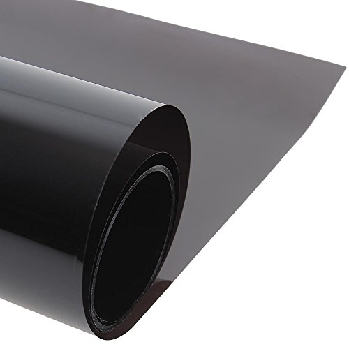 ColorfulHall Window Tinting Film Heat Rejection One Way Glass Solar Film, Black, 23.3-Inch by - Are What Tinted Glasses