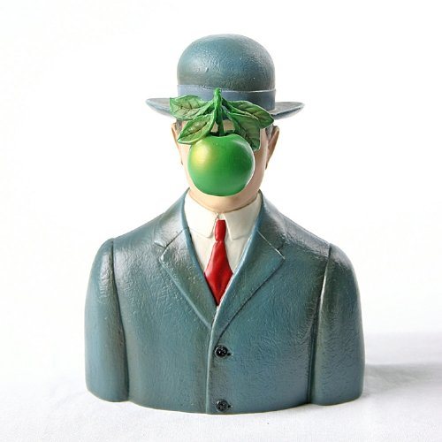 Bowler Hat Man with Green Apple Son of Man figurine.