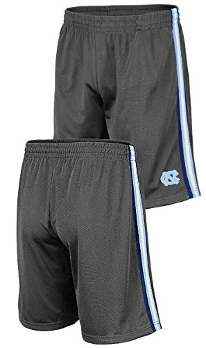 - Colosseum NCAA Men's Grey Santiago Synthetic Shorts (Large, UNC Tar Heels)