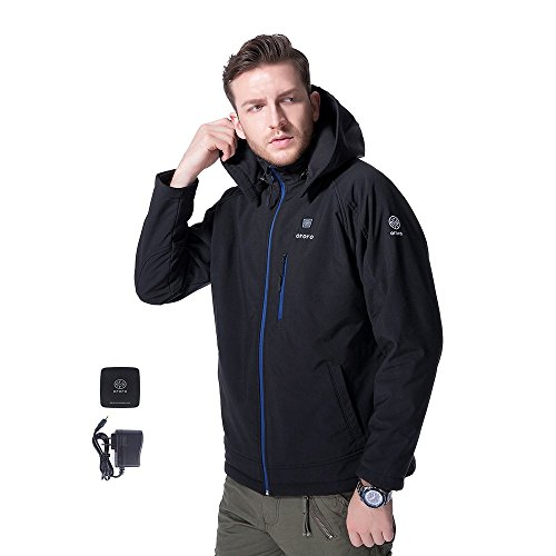 ORORO Men's Heated Jacket Kit with Detachable Hood (X-Large) (Heated Jacket)