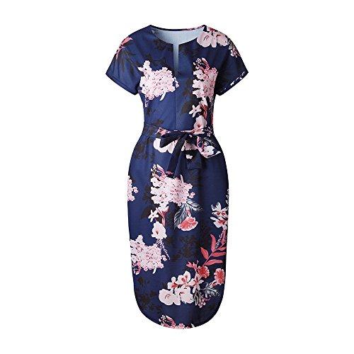 YULAN Damen Kleid Blau Qqdi3PXw5a