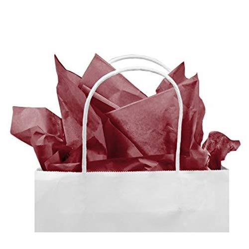 Gift Tissue Paper Bulk - 60-Sheet Burgundy Gift Wrapping Tissue Paper, 20 x 20 Inches, Gift Bag Tissue Paper Gift Wrap, Premium Quality Tissue Paper, Paper Craft Supplies (Burgundy, 60 - Paper Burgundy Tissue