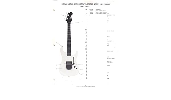 Fender Heavy Metal Series Stratocaster Electric Guitar St551 Hm 254400 Parts Listwiring Diagram Electronics Sunn Amazoncom Books: Fender Hm Strat Wiring Diagram At Shintaries.co