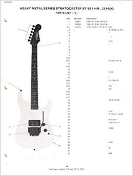 fender heavy metal series stratocaster electric guitar, st-551 hm, 254400,  parts list-wiring diagram: fender electronics, sunn: amazon com: books