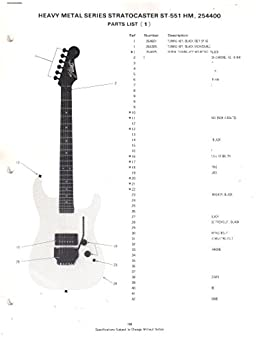 fender heavy metal series stratocaster electric guitar st 551 hm rh amazon com Wiring Guitar Pots Yamaha Bass Guitar Wiring Diagram