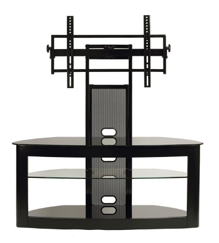 TransDeco LCD Universal Mount TV stand for 35 to 80 Inch Flat Panel Television, Black (Ps3 Stand Tv)