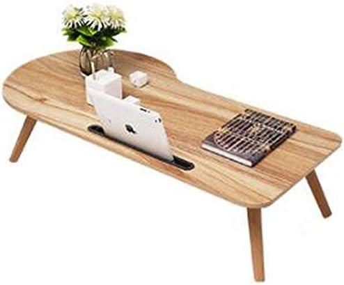 不規則な形の木製スナックテーブル/折りたたみテーブル脚、怠zyな寮の机100回50回33 cm折りたたみテーブル、2