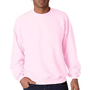 Jerzees mens 8 oz. 50/50 NuBlend Fleece Crew(562)-CLASSIC PINK-L