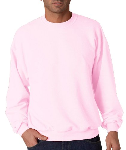 (Jerzees Men's Ribbed Collar With Spandex Sweatshirt, XX Large, Classic Pink)