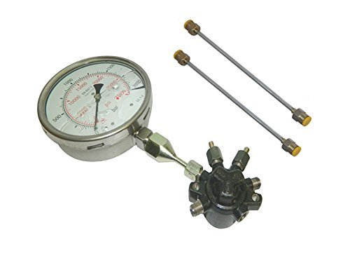 Safedeals365 22-2WMA-Y6DO Common Fuel Rail With 2000 Bar High Pressure Gauge & High Pressure Pipes