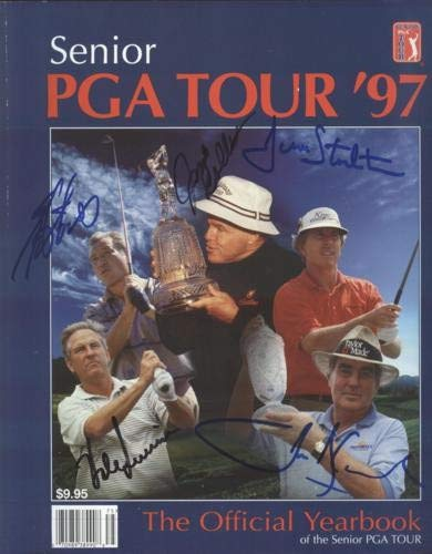 Isao Aoki, John Bland, Jim Colbert, Hale Irwin And Dave Stockton Autographed Signed Auto 1997 Senior PGA Tour Yearbook Certified Authentic