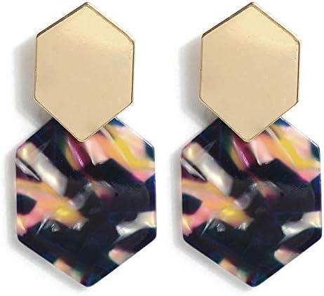 Acrylic Resin Hoop Earrings Tortoise product image