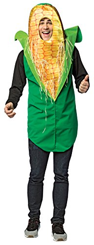 UHC Men's Corn On The Cob Outfit Comical Theme Party Halloween Costume, -