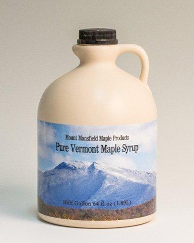 Mansfield Maple Pure Vermont Maple Syrup in Plastic Jug Golden Delicate (Vermont Fancy), Half Gallon