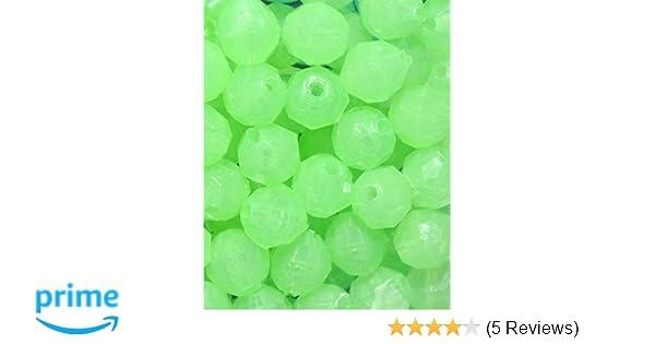 "Orange Glow Beads 100pcs 8mm 5//16/"" Deep Drop Rigs Fishing Beads"