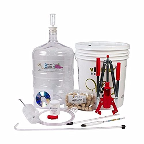 Midwest Homebrewing and Winemaking Supplies HOZQ8-1644 Starter Equipment Kit w/ Better Bottle & Double Lever Corke, Multi