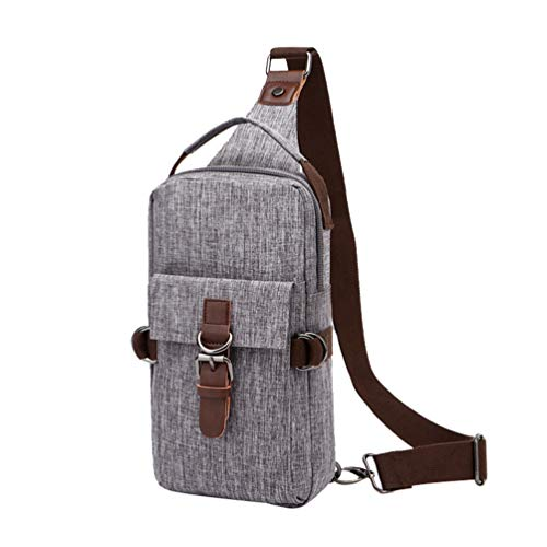 Grey Chenyang Backpacks Lightweight Mens Crossbody Shoulder Pack Daypacks Small Bags Sling Triangle Multipurpose Chest rdrfCwOq