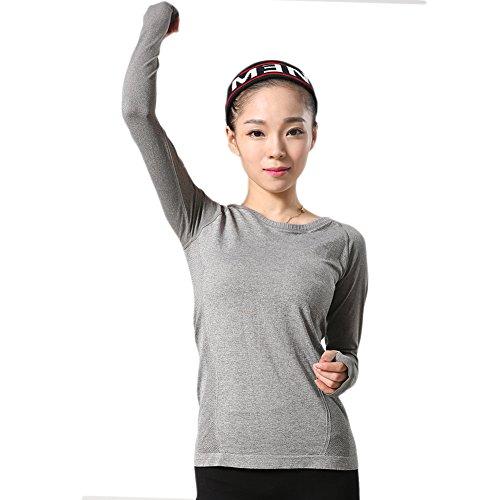 LWJ 1982 - Camisa deportiva - para mujer gris