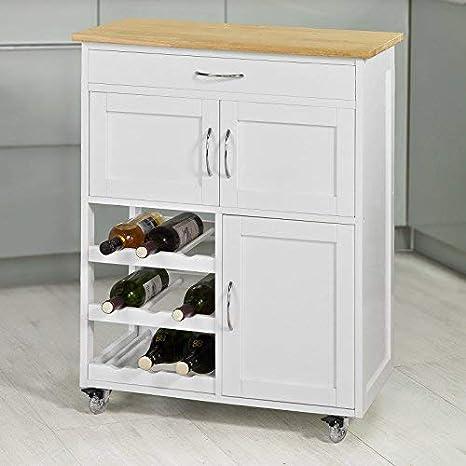 SoBuy Carrito de servir, carrito de cocina, FKW45-WN,ES: Amazon.es: Hogar